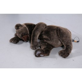 Brown bear sleeping Hansatoy plush DEMO